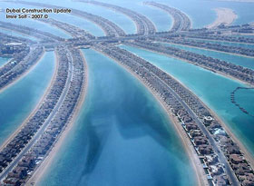 Dubai beach constructions